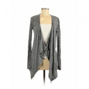 Hazel Cardigan Sweater: Gray Color Block Sweaters & Sweatshirts - Size Small