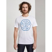 TOM TAILOR T-Shirt met print, White, XL