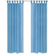 vidaXL Tirkizne prozirne zavjese 140 x 175 cm 2 kom