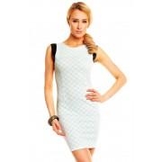 Dámské šaty New Collection aqua-bílo-černé
