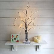 Elemes LED világító havas fa 60 cm meleg fehér