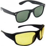 Hrinkar Wayfarer Sunglasses(Green, Yellow)