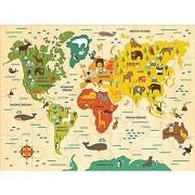 Petit Collage Floor Puzzle Our World 24 pieces