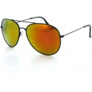 FASHION APEX Aviator Sunglasses(Orange)