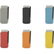 Polka Dot Hoesje voor Huawei Ascend Y220 met gratis Polka Dot Stylus, blauw , merk i12Cover