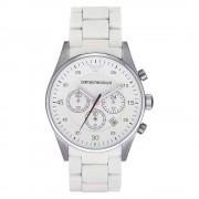 Armani Orologi Cronografo Mens bianco classico orologio Ar5859