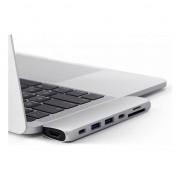 Accesoriu laptop satechi Adaptor Satechi Hub Pro pentru Apple MacBook Pro 2016/2017/2018 - 13'/15', USB-C la USB, HDMI 4K, Card SD, Silver