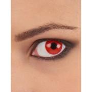 Lentes de contacto olho vermelho adulto