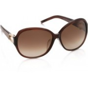 Jimmy Choo Over-sized Sunglasses(Brown)