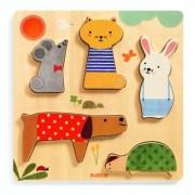 Puzzle lemn animale de companie