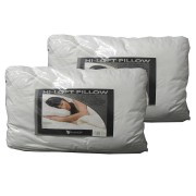 High Profile Pair of 1000 GSM Machine Washable HI-LOFT Standard Pillows by Invitation