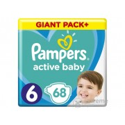 Scutece Pampers Active Baby Giant Pack Plus, marime 6, 68 buc
