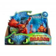Como Entrenar a tu Dragon The Hidden World Snotlout y Hookfang Figura de accion 2 pack