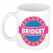 Bellatio Decorations Voornaam Bridget koffie/thee mok of beker