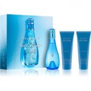 Davidoff Cool Water Woman lote de regalo XIV. eau de toilette 100 ml + leche corporal 75 ml + gel de ducha 75 ml