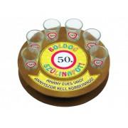 Boldog szülinapot 50-es 6db 1,5cl FT006 - Tréfás Pálinkás kör pohár szett