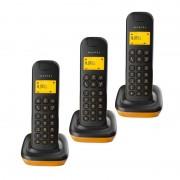 Alcatel D135 Trío Teléfono Inalámbrico DECT Negro/Naranja