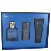 Calvin Klein Eternity Aqua EDT Spray 3.4oz/100.55mL + Deodorant 2.6oz/76.89mL + After Shave Balm 3.4oz/100.55mL Gift 515651