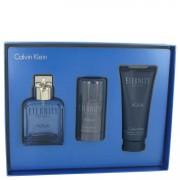 Calvin Klein Eternity Aqua EDT Spray 3.4oz/100.55mL + Deodorant 2.6oz/76.89mL + After Shave Balm 3.4oz/100.55mL Gift 515651