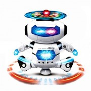 Orangesky Electronic Walking Dancing Smart Space Robot Astronaut Kids Music Light Toys