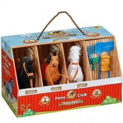 Pony Club 3 Figure Pony Pals Derby Horse Stable With Accessories
