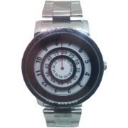 FARP Analog silver colour stainless steel white dial fancy mens watch