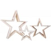 Juldekoration Stjärnor , vita julstjärnor - 3 stycken
