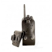 Eigen merk Lederen holster voor Hytera PD605