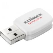 Безжичен мини адаптер EDIMAX EW-7722UTN V2, USB, Realtek, 2.4Ghz, 802.11n/g/b