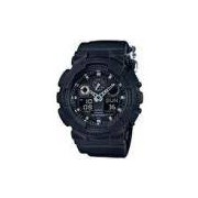 Relógio Casio - G-Shock - Pulseira de lona - GA-100BBN-1ADR