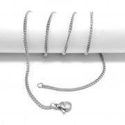 Csavart nemesacél nyaklánc (50 cm)