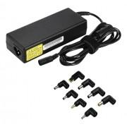 Deltaco Universal strömadapter för laptops 90W 15-20V 6A (max) flera kontakter svart