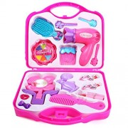 BabyGo Beauty Set Toy Makeup Kit 15-items Set for Girls, Pink