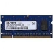 EBE11UE6AESA-8G-F CID 1GB 200p PC2-6400 CL6 8c 64x16 DDR2-800 2Rx16 1.8V SODIMM-NOB, Elpida