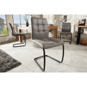 Moderne vintage stoel grijs