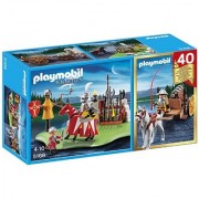 PLAYMOBIL 40th Anniversary Knight's Tournament Compact Set and Cannon Wagon