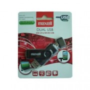 "16GB USB Flash Drive, Maxell ""Dual"", USB 2.0/Micro USB OTG, черна"