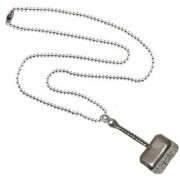 Men Style Thors Hammer Silver Stainless Steel Square Pendent For Men And Women
