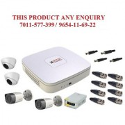 CP Plus 4 Ch. DVR 2 Mp Dome camra- 2 No. 1 MP Bullet Camera -2 No. Power supply BNC DC connector