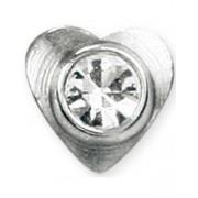 Heart With Stone - Silverfärgad Dermal Anchor Kula