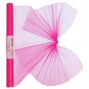 Geen Neon roze organza op rol 40 x 200 cm