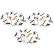 Merkloos 36x Plastic speelgoed insecten