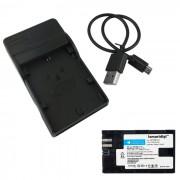 Ismartdigi LPE6 Bateria + Micro USB Cargador para Canon LP-E6 - Negro