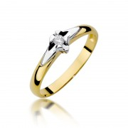 Biżuteria SAXO 14K Pierścionek z brylantem 0,04ct W-88 Złoty RATY 0% | GRATIS WYSYŁKA | GRATIS ZWROT DO 1 ROKU | 100% ORYGINAŁ!!