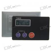 Tarjeta de credito Digital LCD Kitchen Timer Zumbador c/ soporte magnetico - Negro
