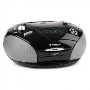 Auna RCD 220 Boombox CD USB Kassettendeck PLL-UKW-Radio MP3 schwarz