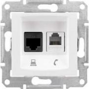 SEDNA Telefon + adat aljzat Utp Cat.5E Rj11+Rj45 IP20 Fehér SDN5100121 - Schneider Electric