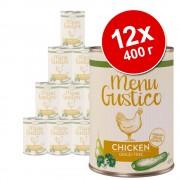 Икономична опаковка Lukullus Menu Gustico 12 х 400 г - микс: говеждо, пуешко и пилешко
