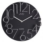 Exkluzivní designové moderní černé hodiny JVD quartz HB09