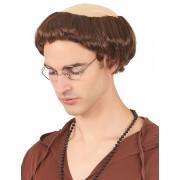 Vegaoo.se Munkkrans - Peruk med brunt hår för vuxna